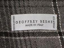 GEOFFREY BEENE ITALY GRAY BLACK PLAID WINTER MEN'S NECK SCARF