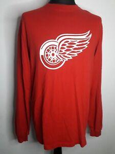 Reebok NHL Detroit Redwings Long Sleeved T Shirt Large