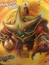 SDCC Comic Con Kaijudo Rise Of The Duel Masters Signed Poster Slight Crease Rare