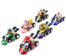 Super Mario Bros Karts Figures Toys - 6 Pcs Set Pull Back Racer Cars 5cm