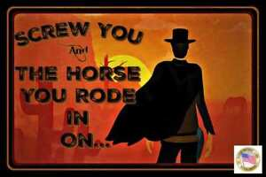 SCREW YOU & HORSE METAL SIGN 8X12 MAN CAVE FUNNY BAR DECOR COWBOY WESTERN HUMOR