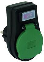 Steckdosen-Schalter, 3680 Watt, IP44, EIN/AUS, mit Kinderschutz für Außen