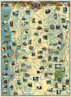 1939+Map+Central+California+Scenic+Views+Wall+Art+Poster+Print+11%22x15%22+History