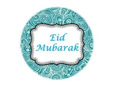 35 Eid Mubarak Stickers Muslim Islam Blue Paisley (666) Decorations Sticker