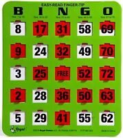 10 JUMBO Reusable Shutter Bingo Cards