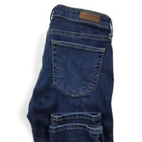 AG Adriano Goldschmied Womens 25 The Prima Mid Rise Cigarette Blue Stretch Jeans