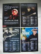 PAUL CARRACK Live in Concert 2011/12/13/14/15 UK Tours Promo tour flyers x 4