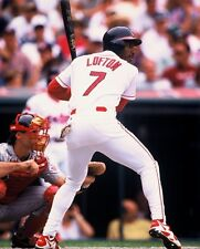 1995 KENNY LOFTEN Cleveland Indians BASEBALL ACTION Glossy Photo 8x10 PICTURE!!