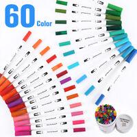 60 Colors Watercolor Drawing Painting Brush Artist Sketch Manga Marker Pen Set