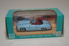 @. 1:43 RIO R7 MERCEDES-BENZ 190 SL 190SL ROADSTER 1955-1963 BLUE MINT BOXED
