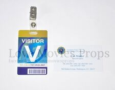 X-Files Fox Mulder Business Card & Screen Used Visitor Badge Pass Dana Scully