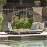 Grey Outdoor Day Bed Cushions Christopher Knight Patio Lounge Furniture Relaxing