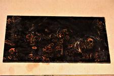 1 Platte Plate Door Pappel Maser schwarz stabilisiert 136x70x3mm puq FA35