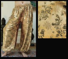 Harem Pants Belly Dance Gold with Black Phoenix Sparkle
