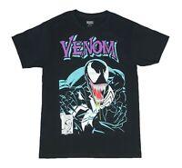 Marvel Comics Venom Portrait Logo Spider Man Mens T Shirt S-2XL