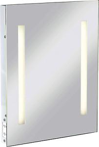 Knightsbridge IP44 Rectangular Mirror with Dual Voltage Shaver Socket