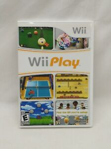 Wii Play Nintendo Wii Complete with Manual Classic Game FREE SHIPPING pre-owned