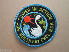 Boy Scouts Of America Power In Action North Bay Council Woven Cloth Patch Badge