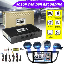 HD 360° Bird View Panoramic System 720P Car DVR Recording Parking Rear View