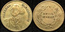 c1850 G. Washington Gaming Jeton Token German Playing Cards Marker Counter Coin