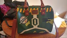 Star Wars Disney Boba Fett Embroidered Patch Barrel Handbag Medium Multi-color