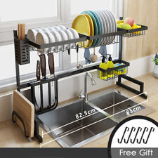 2 Tiers Home Kitchen Dish Plate Bowl Cup Drying Rack Drainer Holder Organizer
