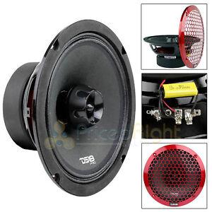"8"" Inch 2 Way Midrange Speaker Built In Tweeter 550 Watts Max 4 ohm DS18 PRO-ZT8"