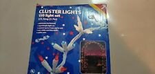 Cluster Lights Noma 150 Light Set 9 Ft. Long Red, White, Blue Indoor Outdoor NEW