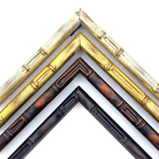 """Exotic Bamboo Picture Frame, 1/2"""", Brown, Silver, Gold, Coffee, Custom Sizes"""