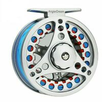Fly Fishing Reel Combo Fly Kit 3/4 WT Large Arbor Aluminum Fly Reels And Line