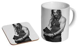 Jason Momoa BW - Coffee / Tea Mug And Coaster Gift Set