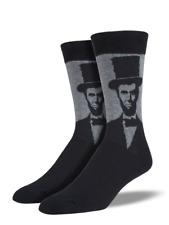 Socksmith Men's Novelty Crew Socks, SSM1417 Lincoln - Charcoal Heather