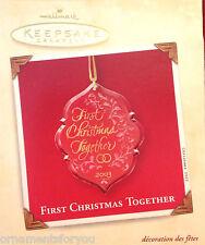 Hallmark 2003 First Christmas Together Ornament