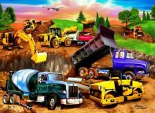 CONSTRUCTION TRUCKS Edible ICING Party Birthday Cake Decoration Topper Image