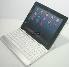 Aluminum Wireless Bluetooth 2.0 Keyboard Case For Apple iPad 2 3