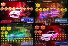 """Wangan Maximum Tune 3DX+ """"46Lv 825hp 9999 ~ 69999 stars + YOUR NAME card"""