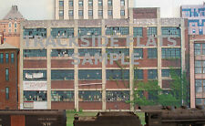 #101 HO scale background building flat   abandoned factory #2  *FREE SHIPPING*