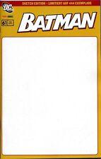 Batman # 61 (alemán) Blank sketch distribuidores-Variant-cover lim. 444 ex.