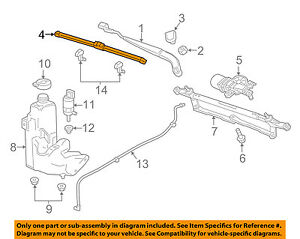 GM OEM Wiper Washer-Windshield-Blade Left 84225697