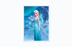 Elsa Walt Disney Frozen Cartoon Art Print Poster Children Kids Wall Art SO ART73