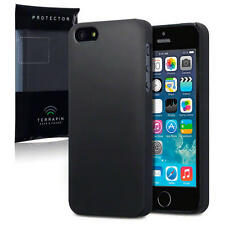 Gomma indurita Slim Armour BACK Case Cover per Nuovo Apple iPhone 5 / 5S / SE morbido