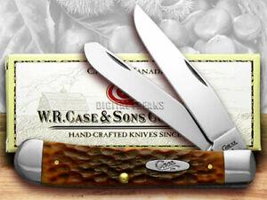 Case xx Trapper Knife Jigged Chestnut Bone Handle CV Pocket Knives 07011
