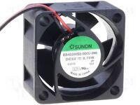 Ventilatore Sunon 40x40x20mm 5/12/24VDC Axial 21dB 13m³/H 6200U/Min