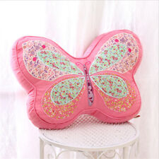 30x40cm Pink Butterfly Shape Embroidered Cushion Lady Bedroom Sofa Throw Pillow