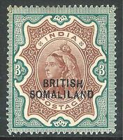 Somaliland 1903 brown/green 3r overprint at bottom mint SG23