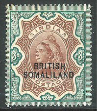 Somaliland 1903 brown/green 3r overprint at bottom mint SG23