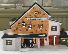 Vtg Dept 56 New England Village Jannes Mullet Amish Barn Lighted #59447 Mint