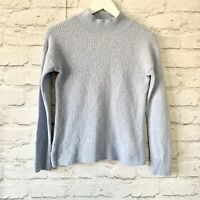 HOBBS Blue Jumper Size S Ribbed     Smart Casual Warm High neck Wool cashmere