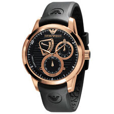 ** New **  Emporio Armani® watch MECCANICO AR4619 Men`s Black Rose Gold