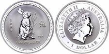 Australien 1 Dollar 1999 - Jahr des Hasen/Rabbit, 1 Unze Silber, Lunar